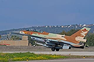 An F-16D Barak of the Israeli Air Force landing at Ramat David Air Force Base Poster Print by Ofer ZidonStocktrek Images (34 x 22)