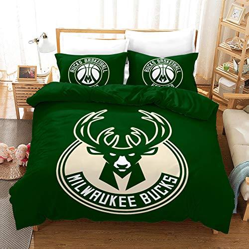 FAIEK Duvet cover Solid color bed linings basketball fan Green basketball,King 200X200CM