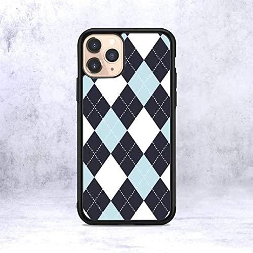 Custodia per telefono rosa blu a quadri scozzese per iPhone 12 mini 11 13 pro XS Max X XR 6 7 8 plus Custodia morbida in silicone TPU SE20, A1, per iphone 12pro Max