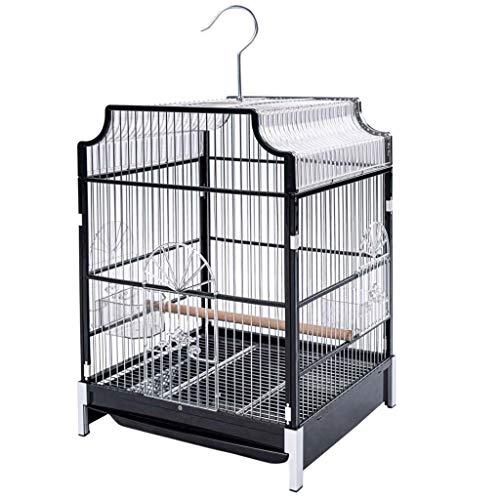 Gabbia per Uccelli Madie Parrocchetto Gabbie per Uccelli per Parrocchetti Gabbia per Uccelli Con Supporto In Ferro Battuto Costruzione da Viaggio per Animali Domestici Volo Bird Cage Birdcage leggero
