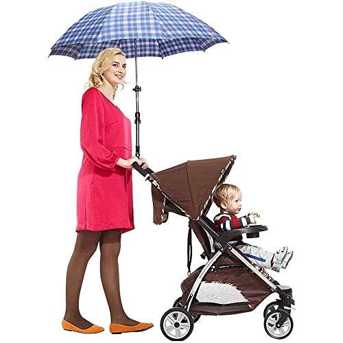 Yuyanshop Baby Kinderwagen UV Schutz Clip On Schirmständer Halter 360 Grad Verstellbares Sonnendach Sonnenschirm für Kinderwagen Radfahren Fahrrad Rollstuhl Kinderwagen Buggy