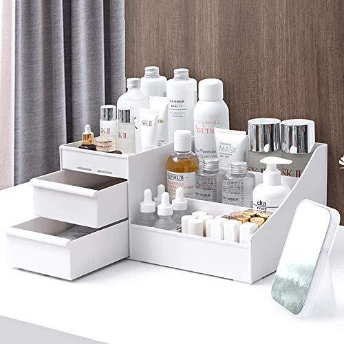Cosmetische opslag, kaptafel cosmetische rack, met grote capaciteit multi-functionele opbergbox, for make-up huidverzorgingsproducten rek kaptafel kleine khaki LOLDF1