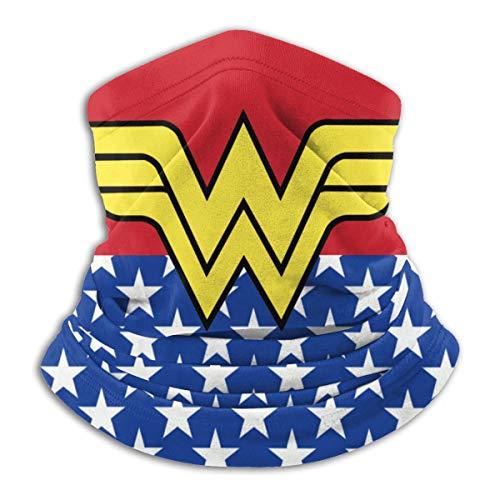 Wonder Woman Logo Multifunctional Headwear Bandana Face Mask Warm Neck Gaiter For Men Women