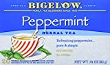 Bigelow Peppermint Herbal Tea Bags, 20 Count Box (Pack of 6) Caffeine Free Herbal Tea, 120 Tea Bags Total