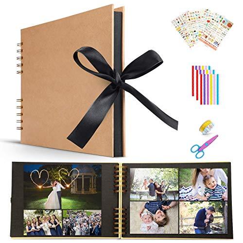 Killow Álbum de Fotos DIY, Libro de Aventura con Accesoro Maravilloso,Pootack Scrapbook-Regalo Ideal para el Día de San Valentín Navidad Aniversario Cumpleaños y Aniversario