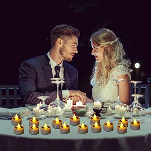 Magent 18er Solar LED Kerzen/Aktualisiert Solar Teelicht Außen Interior Solar Teelichter Wasserdicht Flammenlose Kerzen Solarleuchte Teelichter Nachtlicht für Partei Hochzeit Festival Dekoration