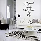 Husband and Wife Best Friends for Life - Vinyl Wall Decal