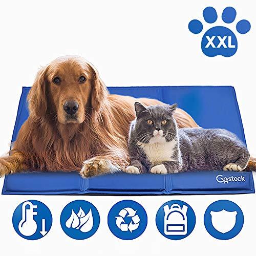 Kühlmatte für Hunde, GoStock Kühlmatte für Haustier Ungiftiges Gel-Selbstkühlungs Matte für Hunde und Katzen, Pet Cooling Mat Hund Cooler Pad für Kisten, Zwinger und Betten (120 * 80cm)