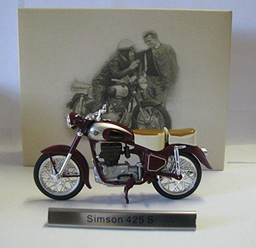 Atlas Modellmotorrad DDR 1:24 Motorrad Simson AWO 425 S weinrot silber