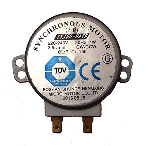 YUHUA ELE TYJ50-8A7 Horno Microondas 220-240V 50Hz 4W CW/CCW 2.5r/min Motor Sincrónico Spindle Turntable Motor para Sharp y Más