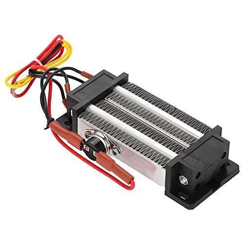Allamp Calentador de aire de cerámica, 300W 220V Alto Termostato de eficiencia de alta transferencia de calor Tipo aislado PTC Calentador eléctrico de calefacción de aire de aire para aire acondiciona
