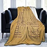 jhgsjnsf Names of God Throw Blanket Christian Prayer Religious Blankets Soft Inspirational Blankets and Throws Premium Caring Gift for Kids Women Mens- 40x 50 Inch