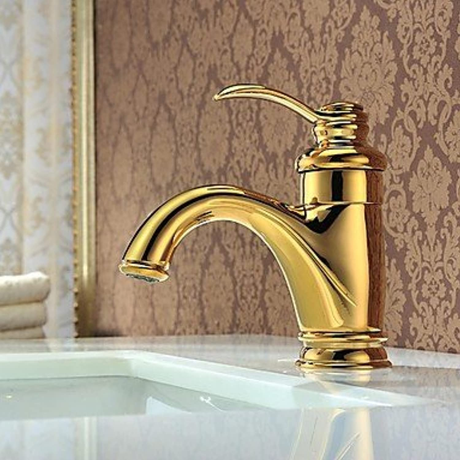 HFaucet? Charmingwater Contemporary Waterfall Brass Ti-PVD