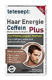 tetesept Haar Energie Coffein Plus - Ergänzungsmittel mit Zink und Biotin für die Haare - 5er Pack (5 x 30 Tabletten)
