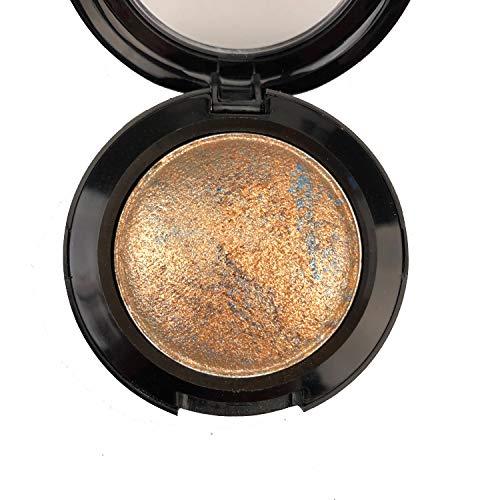 Mallofusa Single Shade Baked Eye Shadow Powder Palette Glitter Makeup Kit in Shimmer 15 Metallic Colors (Dark Copper) 8g/0.28oz (0.28 Ounce Color)