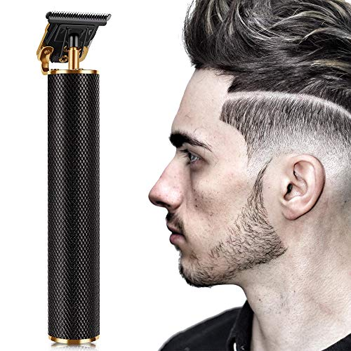 SAISZE Premium Cordless Rechargeable Outliner, T-Blade Hair Clippers for Men, Profession Barber Zero Gapped T Liners Clippers