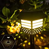 Solar Pathway Lights 8 Pack Outdoor Solar Garden Warm White Lights Waterproof Solar Powered Led Path Lights Auto On/Off Decoration for Garden Pathway Landscape Walkway Yard Lawn Patio