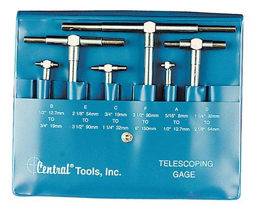 Central Tools 6554 6 Piece Telescoping Inside Diameter Gauge Set