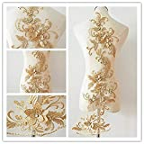 Apliques de encaje 3d Motivos de parches Lentejuelas Diamante Beads Trim Ideal...