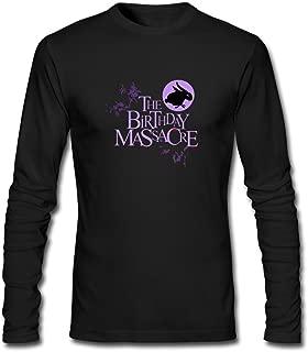 XIULUAN Men's The Birthday Massacre Band Synth Rock Logo Long Sleeve T-Shirt