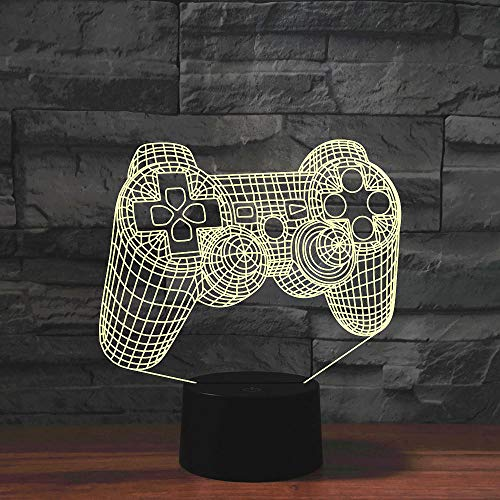 3D Illusion Lampe Led Nachtlicht Game Controller Usb-Tischlampe Greative Gift For Kids 7 Farbwechsel Baby Sleep Kindergeschenke