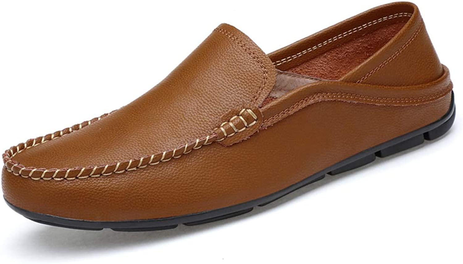 Men's Comfort Loafers Leather Spring Fall Comfort Loafers & Slip-Ons Black White Brown bluee