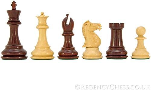 compras de moda online The Regency Chess Company Company Company Sandringham Serie rojo Sándalo Piezas De Ajedrez 10.2cm  diseño único