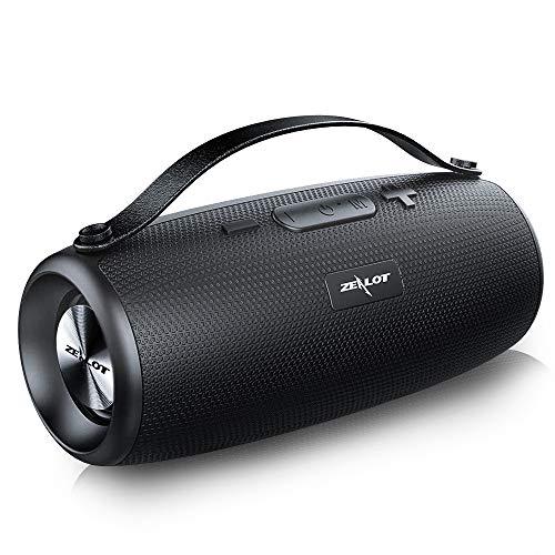 ZEALOT S34 Altavoz Bluetooth 20W, Impermeable IPX5 Altavoces Portatiles Inalámbrico,24 Horas de Reproducción, Sonido estéreo HD Potentes con Micrófono, AUX,USB,Micro SD/TF, Pendrive,Manos Libres