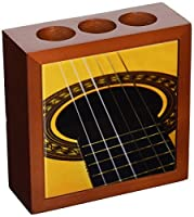 Rikki Knight Guitar Design Inch Tile Wooden Tile Pen Holder [並行輸入品]