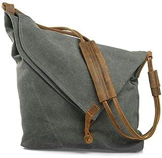 Canvas Tasche, P.KU.VDSL Canvas Umhängetasche Crossbody Tasche Damen Schultertasche Canvas Messenger Bag Mädchen Schultert...