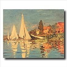 Claude Monet French Sailboat Ocean Beach Landscape Wall Picture Art Print