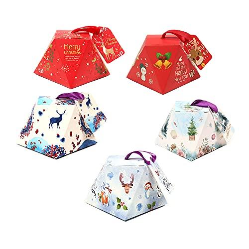 【BEAUTY PLAYER】ギフトボックス キャンディーボックス クリスマス お菓子 ラッピング ギフトラッピング クリスマス プチギフト 個包装 クリスマス チョコレート クッキー リンゴ キャンディーボックス (クリスマス 多面体)