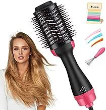 Hair Dryer Brush, JAHUL 3 in 1 Hot Air Brush Hair Dryer and Volumizer Styler, Salon Negative Ionic Hair Brush Blow Dryer Straightener & Curler