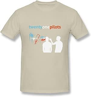 SHUNAN Men's Twenty One Pilots T-shirt Size XS Natural