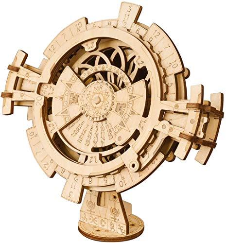 MUANSER Puzzle 3D Calendario perpetuo Vaivén Kit de Madera para Adultos, de Bricolaje de Madera Rompecabezas Arte de la Mano mecánica Juguete de Regalo para Mujeres y Hombres