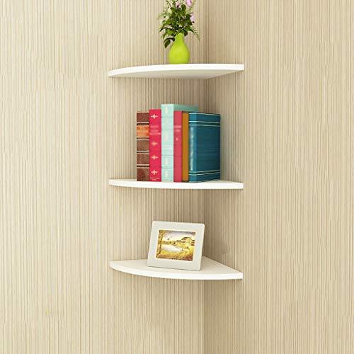 Wanddekoration Eckfächer in Form eines Fächers, Wandregal, Eckregal für Schlafzimmer, Zementwand aus Backsteinmauern können installiert werden, Keramikfliesen können nicht installiert werden Regal