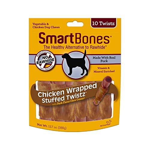SmartBones Chicken Wrapped Stuffed Twistz Rawhide Free Dog Chews, 10PK
