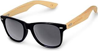 5b9ac40494 Navaris Gafas de sol UV400 - Gafas de madera para hombre y mujer - Gafas de