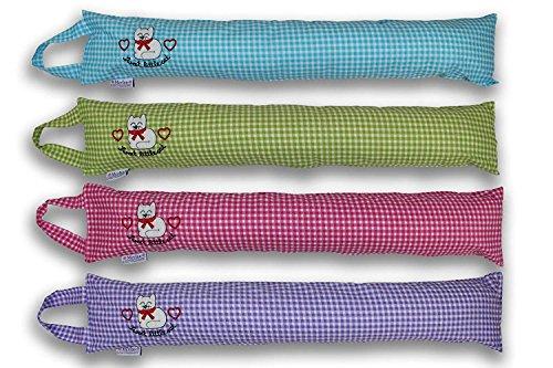 Merino-Betten Zugluftstopper 85cm Zugluftrolle süßen Kätzchen Türluftstopper Schutz vor Lärm und Zugluft (Pink)