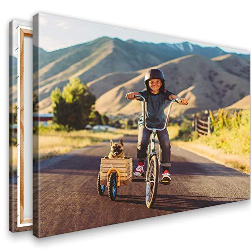 Kunstlab Dein eigenes Foto auf Leinwand 30x20 cm Querformat. Echtholz Keilrahmen. Personalisierbar. Fotogeschenk selbst gestalten. Sofort hochladen.