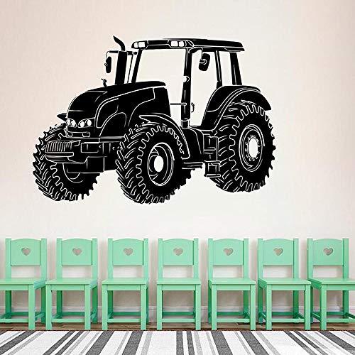 AiEnmaw Calcomanía de pared grande para tractor, camión, camión, camión, camión, vinilo, para decoración de habitación de niños, 82 x 57 cm