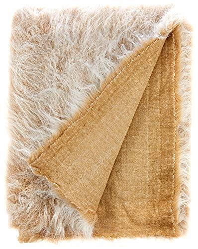 CRS Fur Fabrics 8800201517657 Langflor aus Kunstfell, acryl, Camel Frost, 1Mtr - 150cm x 100cm