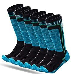 FINGER TEN 2019 New 2pair ski socks ski socks sport socks cotton socks men women children girls boys thicken for winter sports snowboard gift size 31-43 (blue, L (39-43))