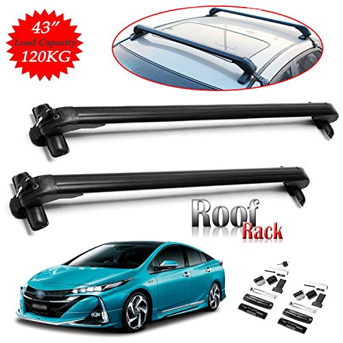 SIKY for Toyota Corolla/Prius / RAV4 Car Roof Rack Cross Bar 43'' Lockable Aluminum Anti Theft...