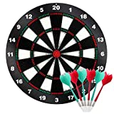 Kyerivs Safety Dart Board Set with Soft Tip Darts for Kid 16.5 Inch Board Games and Leisure Sport for Office
