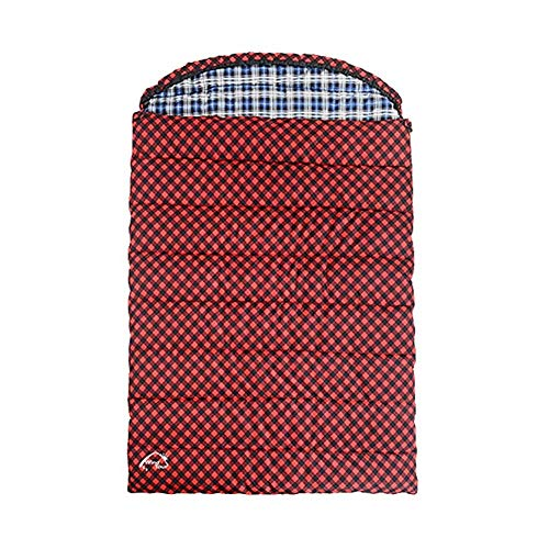 CATRP Les Amoureux Double Sac De Couchage Durable Respirant Extérieur/Intérieur Matelas Énorme Portable Camping Randonnée Sac De Sommeil,Rouge (Size : 3.2kg)
