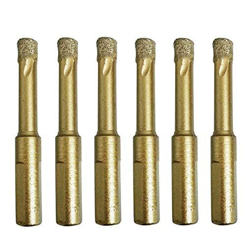Bayda - Juego de 6 brocas de cerámica para sierra de 8 mm con diamante de cerámica y diamante para azulejos de ceramica, porcelana, mármol, granito, piedra roca y cristal