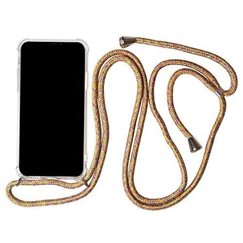 Telefoonhoesje met band voor Samsung Galaxy A50 | Bumper Case helder | beschermhoes met, Samsung Galaxy A50, regenboog