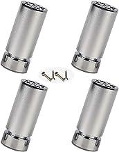 WaiMin Meubelpoten 6-40cm Sofa Meubelvoeten, Set van 4 Aluminiumlegering, In hoogte verstelbare kastvoeten, Ronde Koffieta...