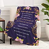 Purple Prayer Blanket-WISH TREE.Compassion Inspiration Faith Religious Christian Gift- Bible Verse Blanket and Throw. Get Well Soon Gift for Women, Cancer Gift with Positive Strength for Family,Friend